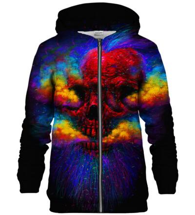Explosion zip up hoodie