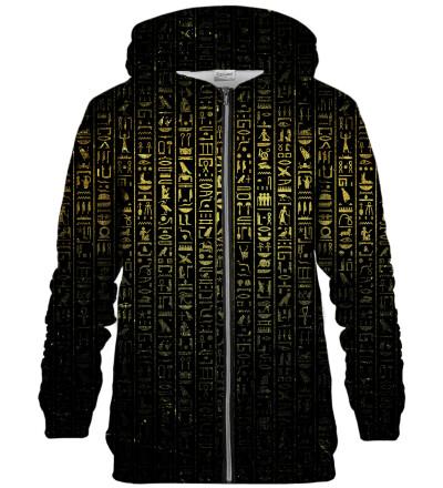 Hieroglyphs zip up hoodie