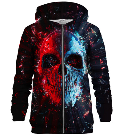Glass Skull zip up hoodie