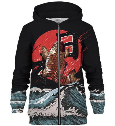 Fish zip up hoodie