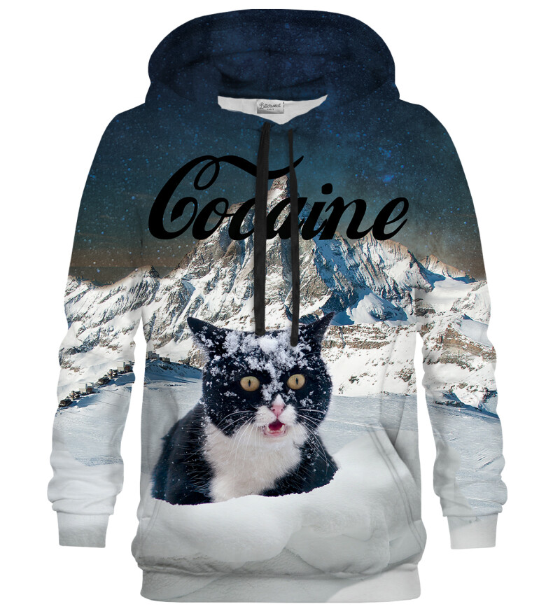 Bluse med hætte - Cocaine Cat
