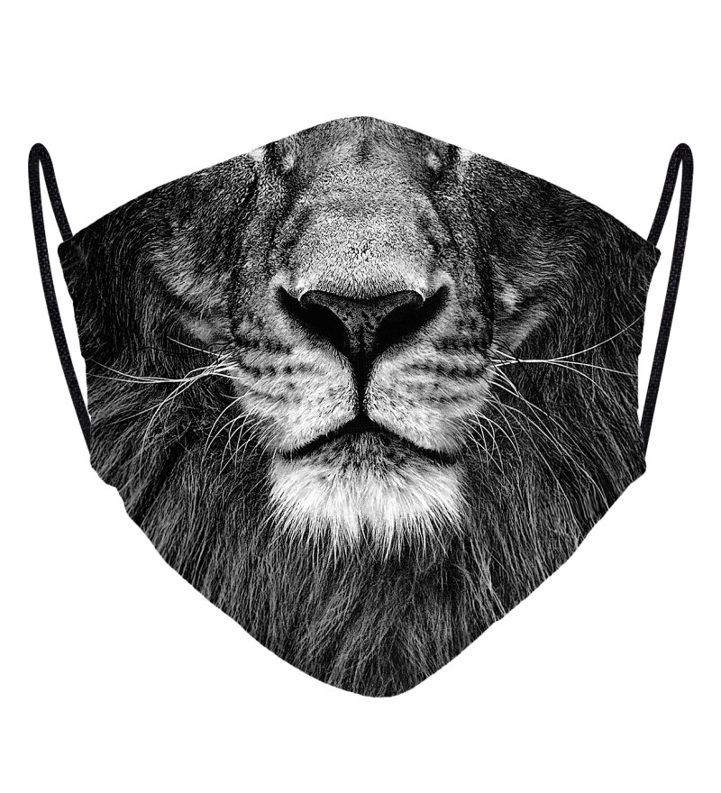 Grey Lion face mask