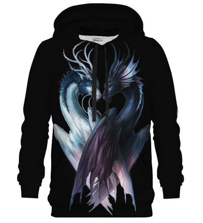 Yin and Yang Dragons Black hoodie