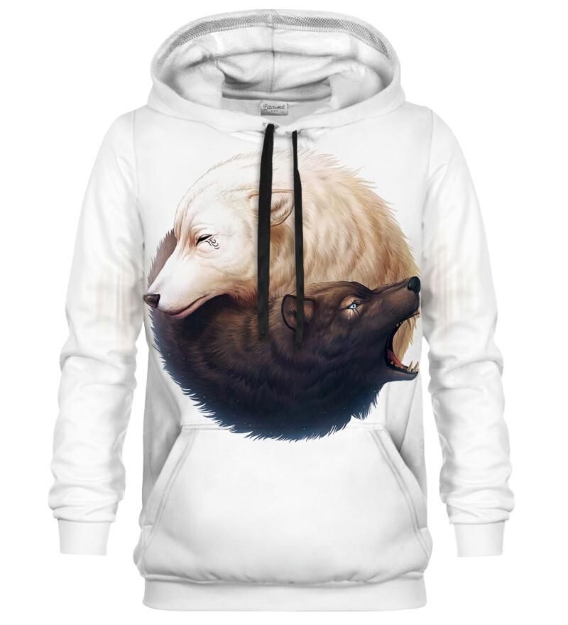 Bluza z kapturem Yin and Yang Wolves