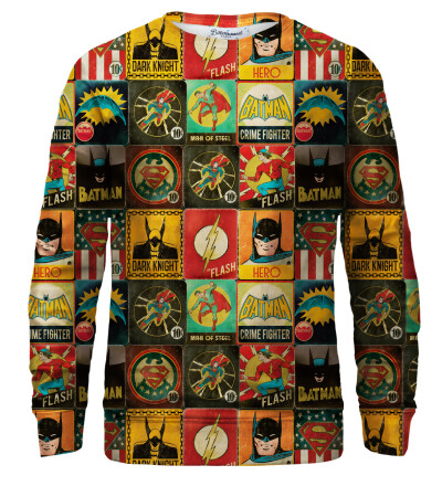 Super Heroes Wall sweatshirt
