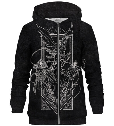 Justice League Sketch zip up hoodie