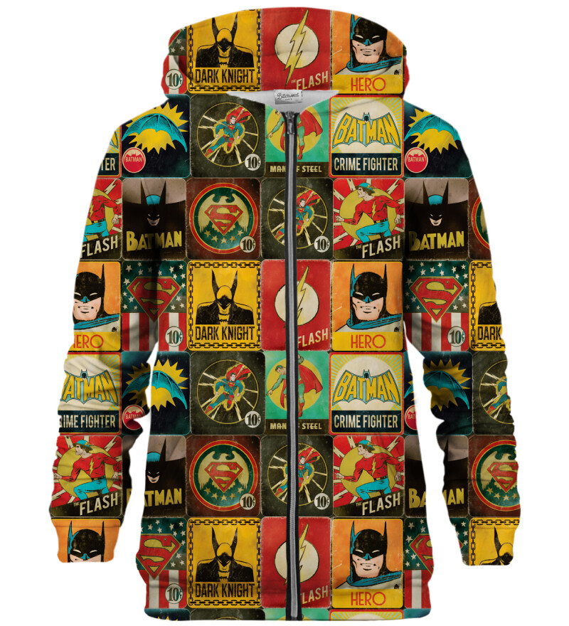 Super Heroes Wall zip up hoodie