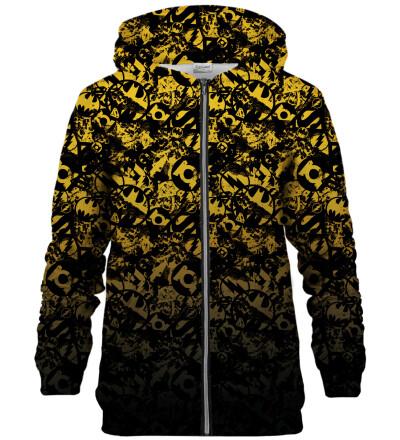 JL logo pattern zip up hoodie