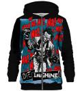 Die Laughing zip up hoodie