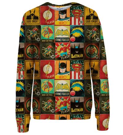 Super Heroes Wall womens sweatshirt