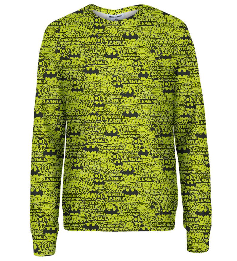 Justice League Pattern womens sweatshirt