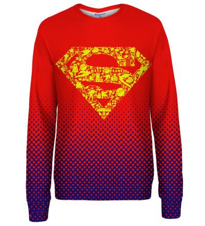 Superman logo womens sweatshirt