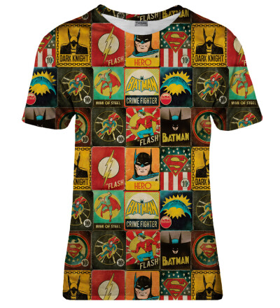 T-shirt damski Super Heroes Wall
