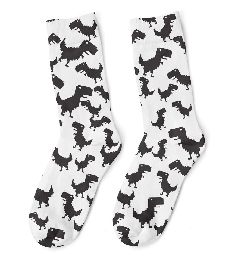 Terrifying Dino Socks