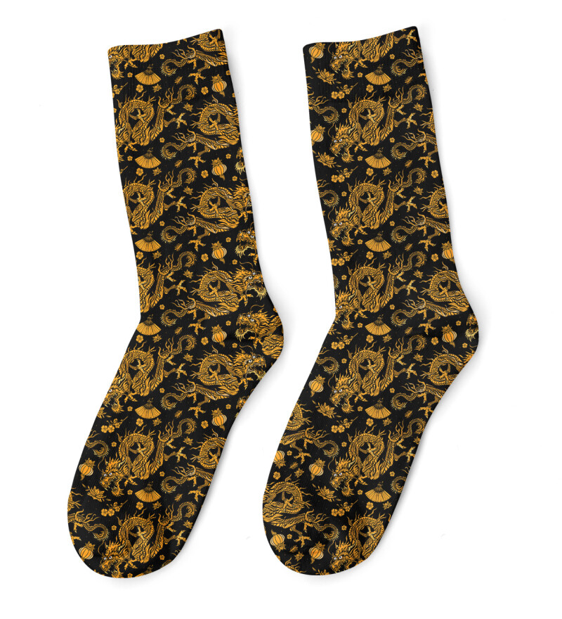 Chinese Dragon Socks
