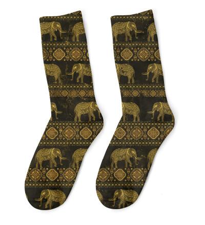 Golden Elephants Socks