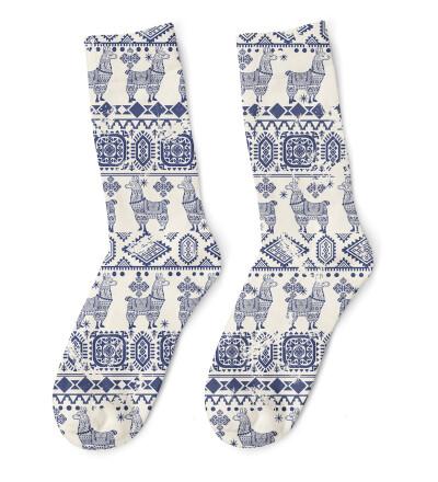 Lama Pattern Socks
