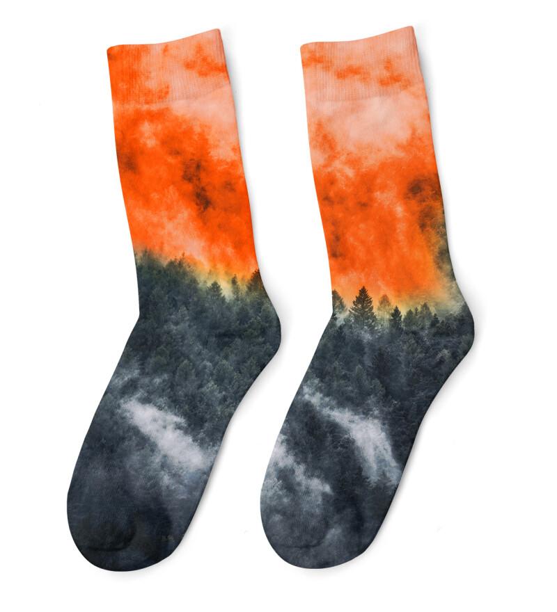 Mighty Forest Orange Socks
