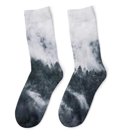 Mighty Forest Grey Socks