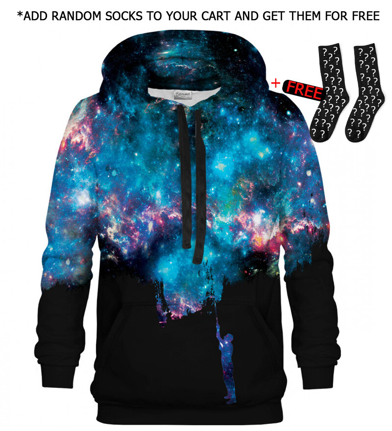 Printed Hoodie - Another Painting black
