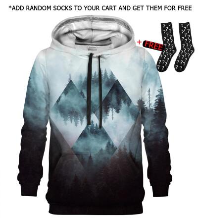 Bluza z kapturem Geometric Forest