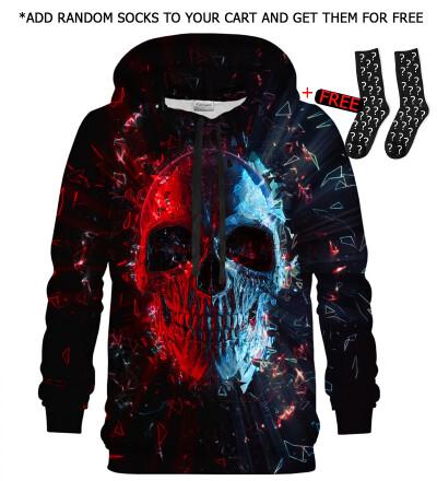 Bluza z kapturem Glass Skull