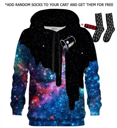 Printed Hoodie - Galaxy Milky Way