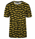 Batman logo pattern t-shirt, Licensed Product of Warner Bros. Pictures