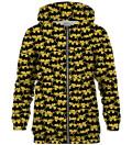 Batman logo pattern zip up hoodie, Licensed Product of Warner Bros. Pictures