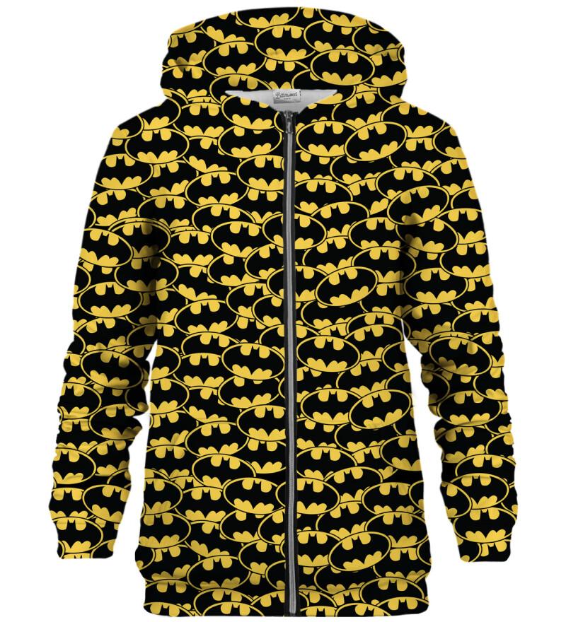 Batman logo pattern zip up hoodie