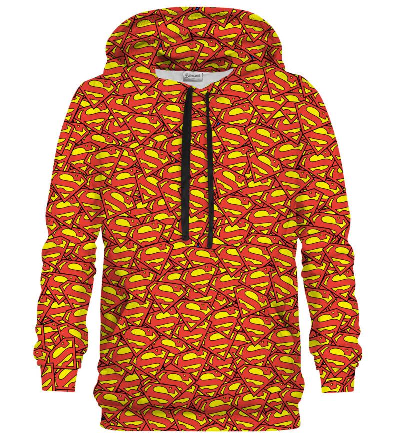 Superman logo pattern hoodie