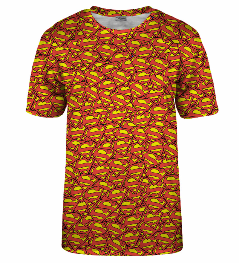 Superman logo pattern t-shirt