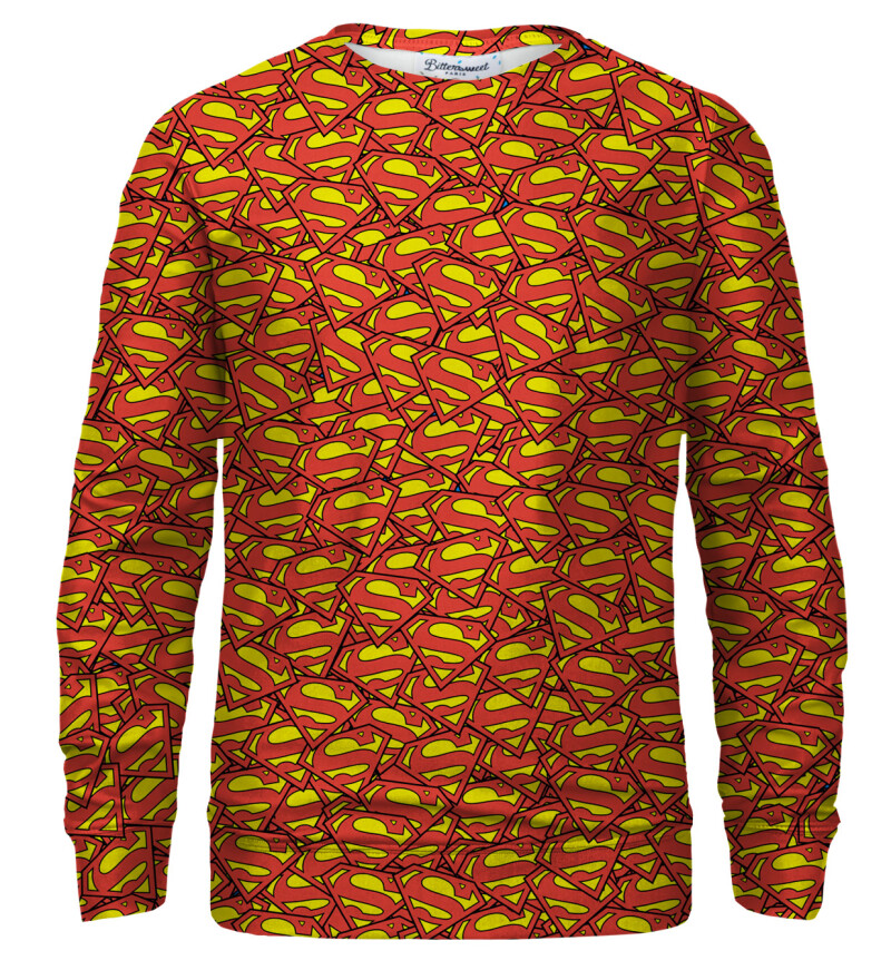 Superman logo pattern sweatshirt