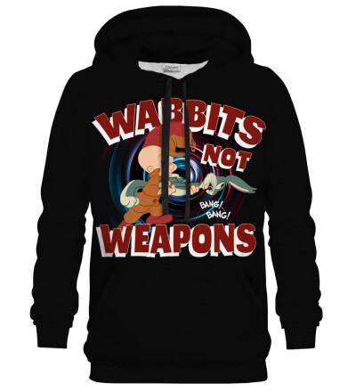 Bluza z kapturem Wabbits no weapons