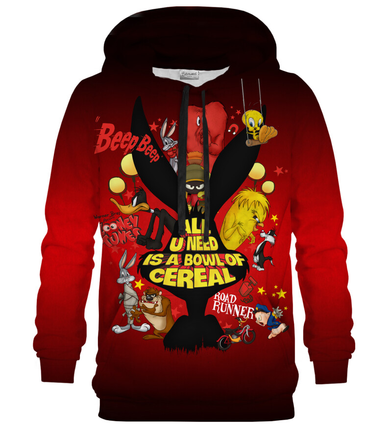 Bowl of cereal red hoodie