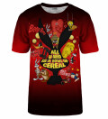Bowl of cereal red t-shirt, Licensed Product of Warner Bros. Pictures