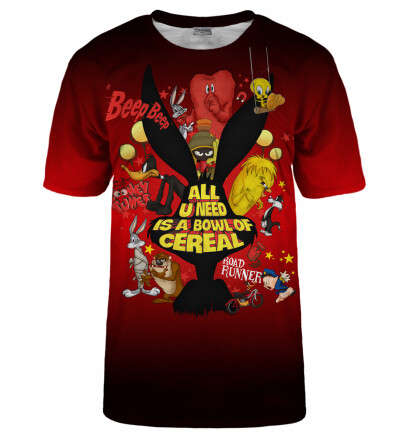 Bowl of cereal red t-shirt