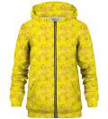 Tweety pattern zip up hoodie, Licensed Product of Warner Bros. Pictures