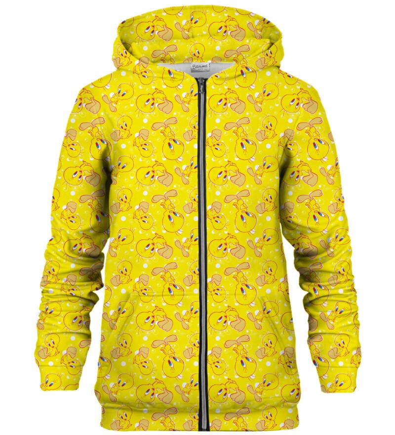 Tweety pattern bluse med lynlås