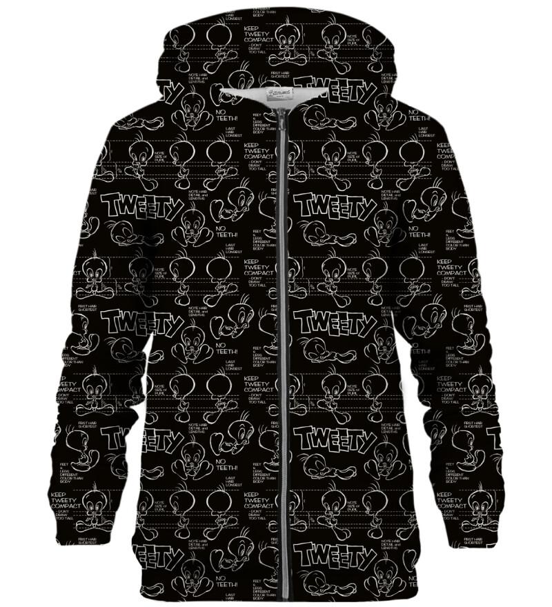Tweety world zip up hoodie