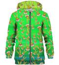 Bugs pattern zip up hoodie, Licensed Product of Warner Bros. Pictures