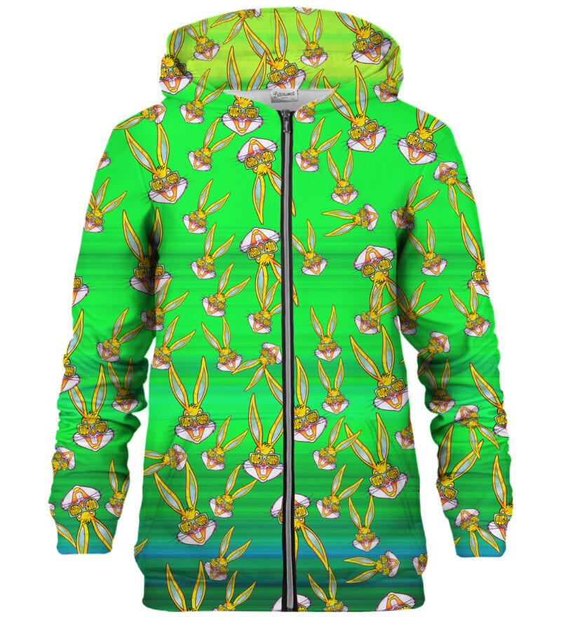 Bugs pattern zip up hoodie