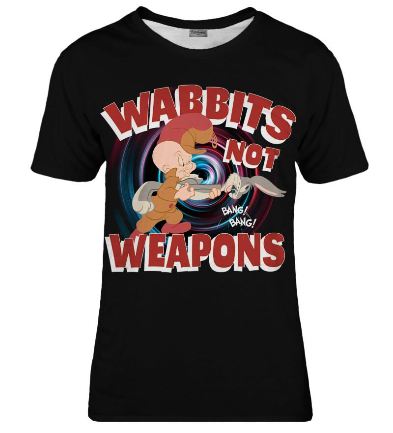 Wabbits no weapons womens t-shirt