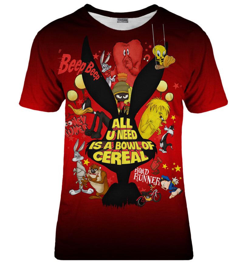 Bowl of cereal red womens t-shirt