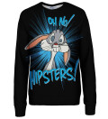 Oh no hipsters womens sweatshirt, Licensed Product of Warner Bros. Pictures
