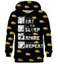 Bluza z kapturem Eat Sleep