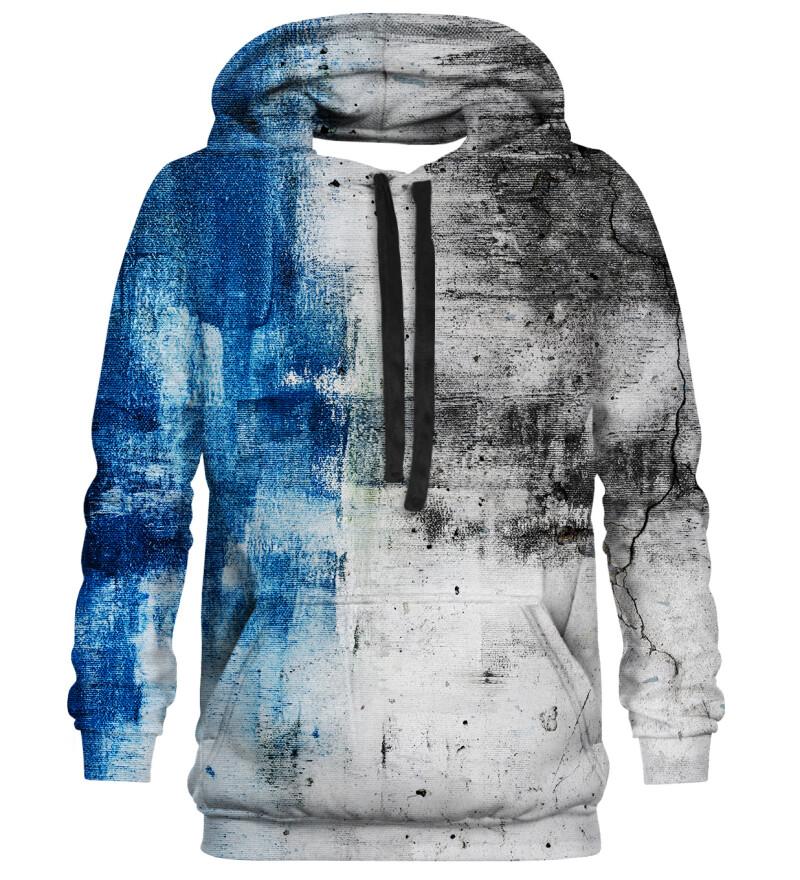 Printed Hoodie - Blue Wall