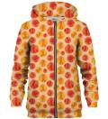 Basketball Pattern zip up hoodie
