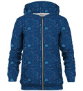 Tune Squad Pattern zip up hoodie