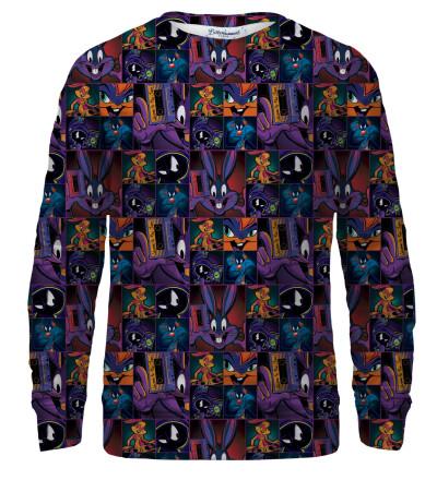 Space Jam pattern bluse med tryk